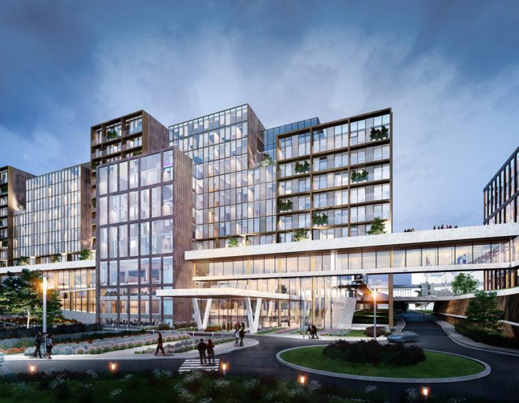 Vue depuis l'avenue Mounier © VK Architects Engineers et Michel Rémon Associés